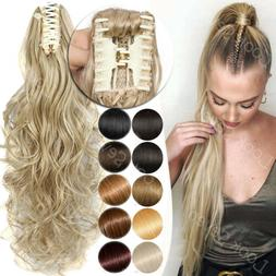 Claw Natural False Hair Clip In As human Hair Extensions For