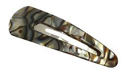French Amie Clic Clac Large Onyx Silver Grey Handmade Snap H