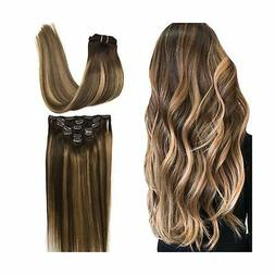 Googoo Hair Extensions Clip in Ombre Chocolate Brown to Hone