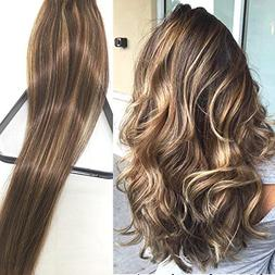 Myfashionhair Clip in Hair Extensions Real Human Hair Extens
