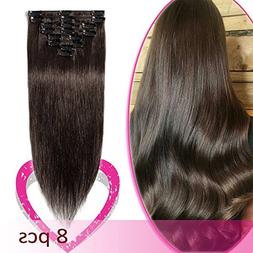 clip hair extensions remy human