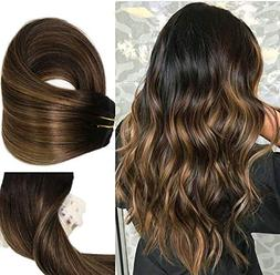 Clip In Human Hair Extensions Thicken Double Weft 9A Brazili