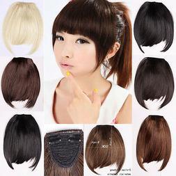 Clip in Bangs Fake Hair Extension False Hair Piece Clip on F