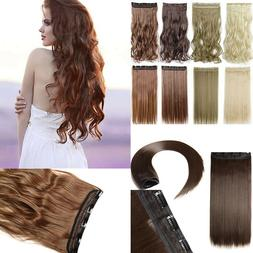 Clip in One Piece 100% Thick as Human Hair Extension Lady Pl