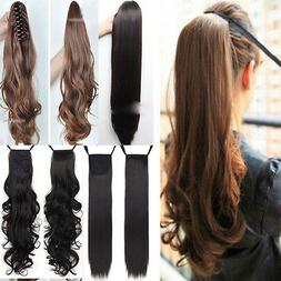 Clip In Ponytail Pony Tail Hair Extension Wrap On Hair Piece
