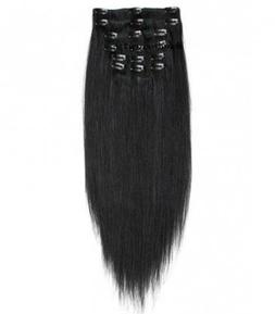 "30"" 8 Piece Clip Ins 175g to 180 Gram Remi Human Hair Extens"