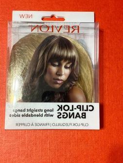 Revlon Clip Lok Bangs Hair Extension Dark Blonde Ready To We