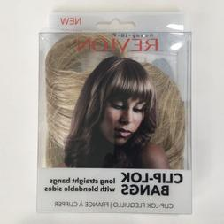 Revlon Clip Lok Bangs Hair Extension Dark Blonde Ready To We