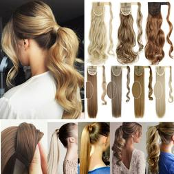 Clips in + Wrap = Pony Tail 100% Natural Like Clip in Hair E
