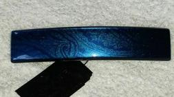 """Cobalt Blue Barrette FRANCE LUXE NWT French Hair Clip 3.5"""" s"""