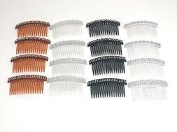"""16 PCS Combs Plastic Hair Clips Side The Color Pick up 4"""" ."""