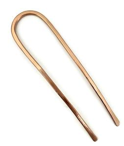 Copper Hair Fork Gold Bun Holder U Shaped Hair Pin MEDIUM TH