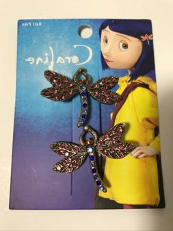 Her Universe Coraline Dragonfly Hair Clip Barrette Set of 2