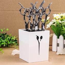 Ozzptuu Creative Acylic Salon Scissors Holder Box Hairdressi
