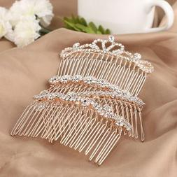Crown Butterfly Hairpins Crystal Hair Combs Love Shaped Rhin