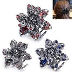 Crystal Hair Clip Rhinestone Hairpin Claw Clamp Wedding Wome