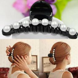 crystal rhinestone hair clip pearl hairpins pearl