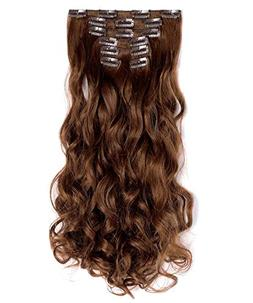 """OneDor 20"""" Curly Full Head Clip in Synthetic Hair Extensions"""