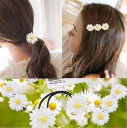 Daisy Elastic Hair Ring Rope Bands Hair Clips Ponytail Holde