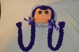 Doll Face Hair Clip Holder, Bow Holder, Organizer, Ponytail