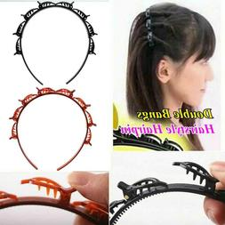 Easy to Use Double Bangs Hairstyle Hairpin Twist Plait Headb