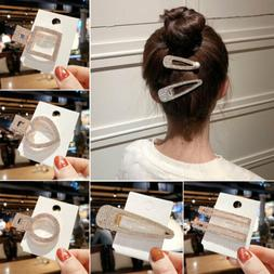 Elegant Crystal Barrettes Hair Clip Pearl Hairpin Headdress