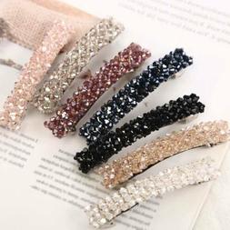 elegant crystal hairpins hairgrip barrettes zircon hair