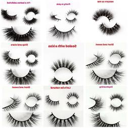 Eyelashes 3D Mink Hair 100% LUXURY Natural Long Eye Lashes F