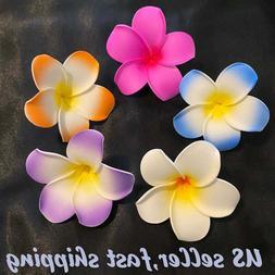 """Fashion 5pc 3"""" Hawaii Plumeria Flower Foam Hair Clip,Boutiqu"""