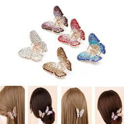 Fashion Butterfly Claw Women Crystal Rhinestone Hair Clip Cl