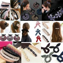Fashion Elastic Hair Ropes Scrunchies Nest HairPin Hair Ties