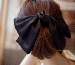 Fashion Girl Satin Ribbon Bow Hair Clip Barrette Ponytail Ho