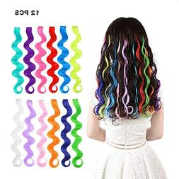 Fashion Party Hair Accessory Girls Colorful Hair Clip in Ext