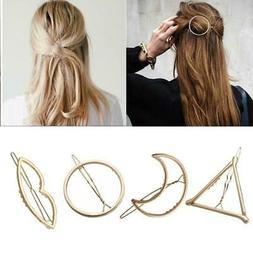 Fashion Woman Hair Accessories Triangle Hair Clip Pin Metal