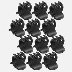 Fashion 12Pcs Mini Black Plastic Hairpin Claws Hair Clips Cl