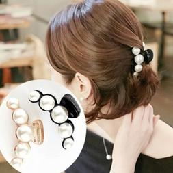 fashion women hair clip faux pearl lady