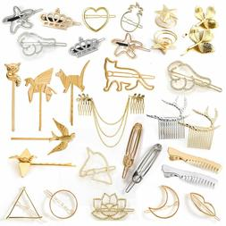 Women Geometric Hair Clips Barrettes Pins Clip Fastening Ele