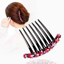 New Korea Fashion Women Rhinestone Flower 7 Teeth <font><b>H
