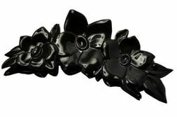 Parcelona French Clementine Extra Large Black Celluloid Jaw