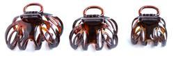 French Octopus Celluloid Tortoise Shell Medium Hair Claw Hai