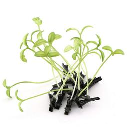 Funny Show Bean Sprout Bobby Hairpin Flower Plant <font><b>H