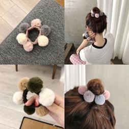 Fur Balls Elastic Tie Hair Clip Side Clip Hair Rope Scrunchi