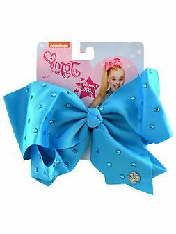 Girls Jojo Siwa Large Hair Bow Clip with Rhinestones Blue