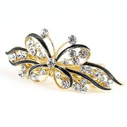 Gold Tone Butterfly Hair Clip - TOOGOO Woman Gold Tone Metal