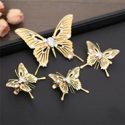 Golden Girls Headdress Butterfly Hair Clips Bobby Pins Brida
