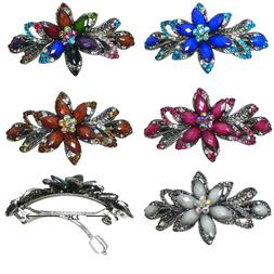 Bella Gorgeous Barrette Hair Clip with Beads and Crystals U8