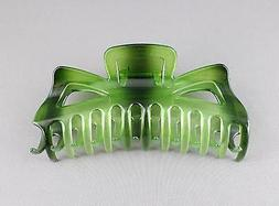 """Green ombre hair clip comb Big Huge jaw claw XL clamp 5.5"""" l"""
