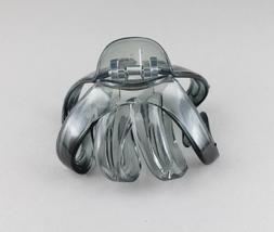 Grey octopus hair clip big spider barrette plastic claw jaw