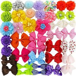 grosgrain ribbon hair bows boutique flowers clips