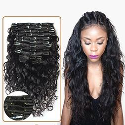 Choshim Hair 8A Grade 100% Brazilian Virgin Remy Clips In Hu